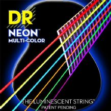 DR NEON NMCA-11 Multi Colour Luminescent Fluorescent Acoustic Guitar strings 11-50